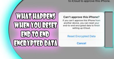 what happens when you reset end to end encrypted data