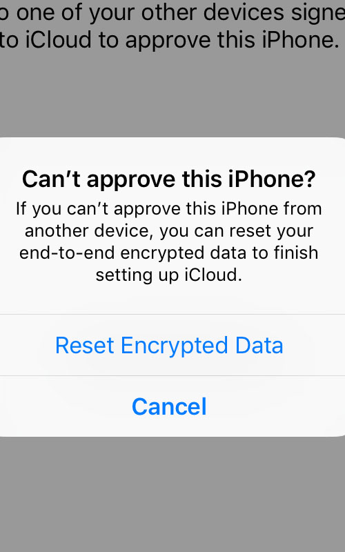 what happens when you reset the end to end encrypted data