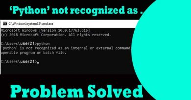 python is not recognized as internal or external command.