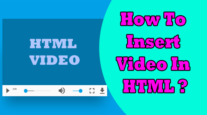 how to insert video in html