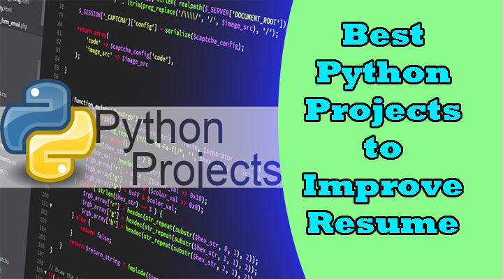 python projects for resume