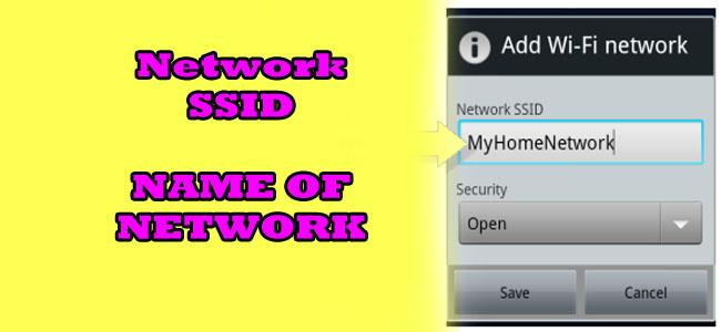 network ssid