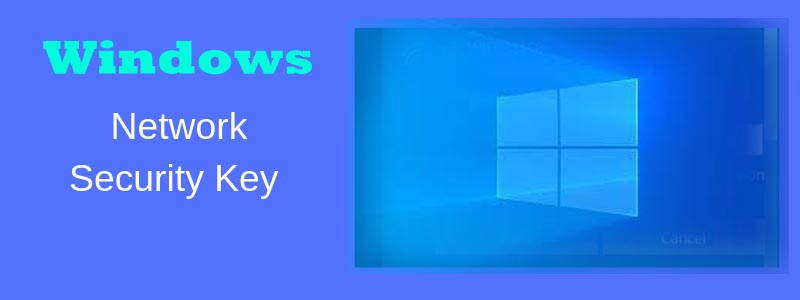 network security key for windows