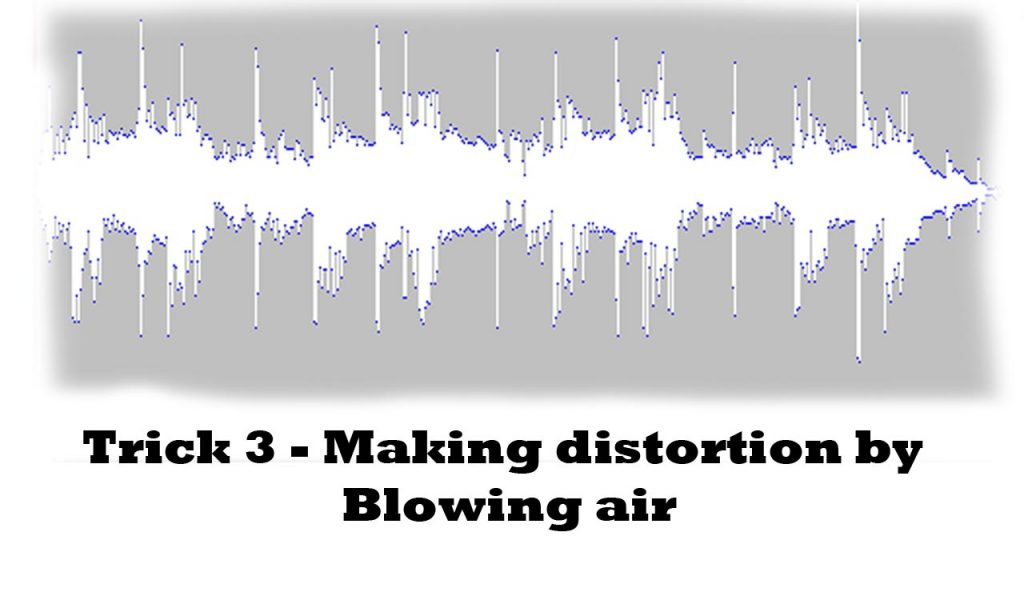 making your headset mic sound bad by using blow air technique